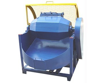 Olive shape rotary barrel tumbling machine