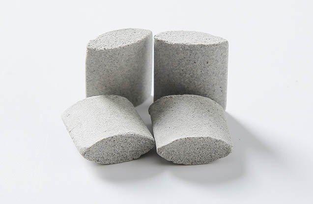 Ceramic media ellipse shape for deburring