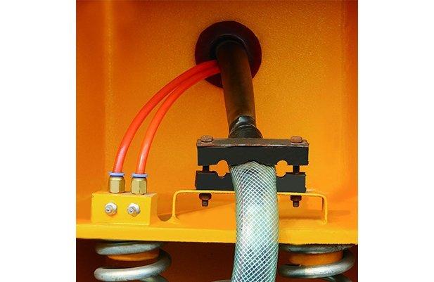 LZG(A)100 curved bowl with separating unit vibratory finishing machine deburring machine