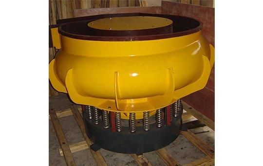 LZG(A)900 curved bowl with separating unit vibratory finishing machine