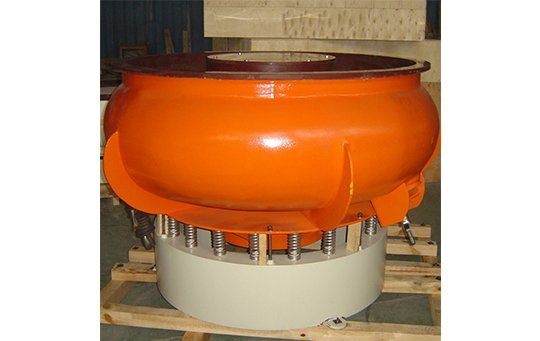 PZG(A)1200 vibratory finishing machine with Straight wall bowl
