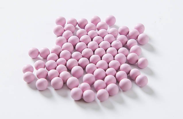 pink color porcelain tumbling polishing media