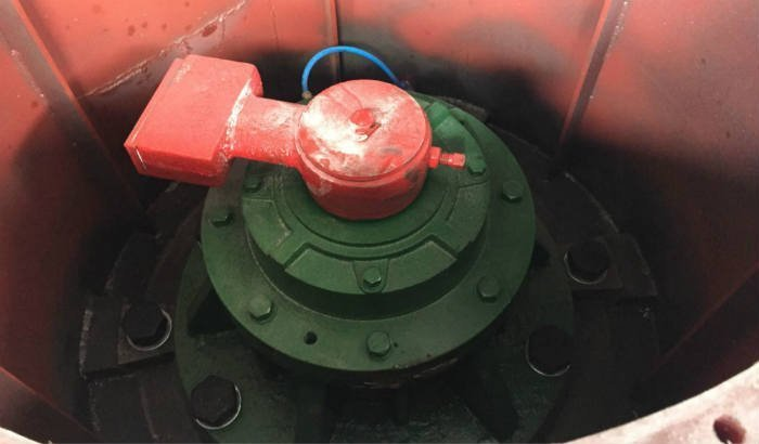 vibratory finishing motor shaft