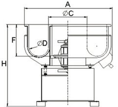 VB(B) vibratory finishing machine technical info
