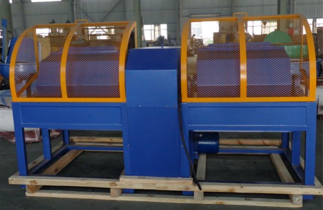 double barrel rotary barrel finishing machine