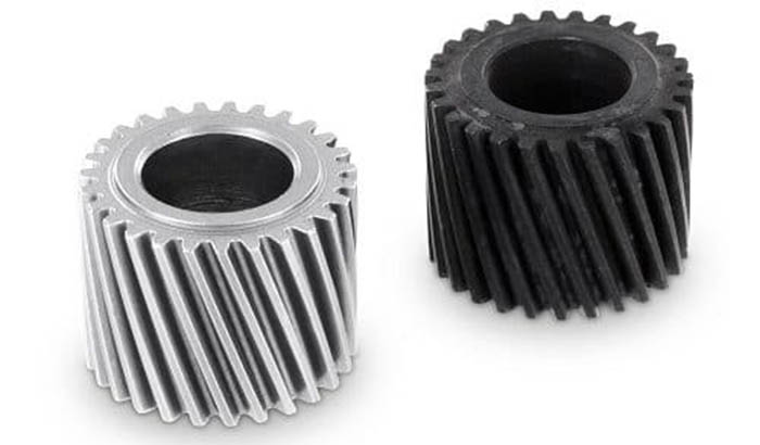 gear parts before and after polishing