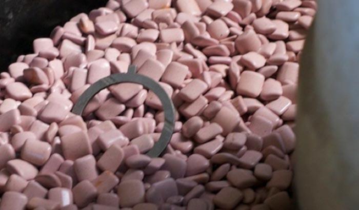 pink RKM media deburring vibratory tumbler media