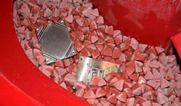 plastic media deburring aluminum machining parts