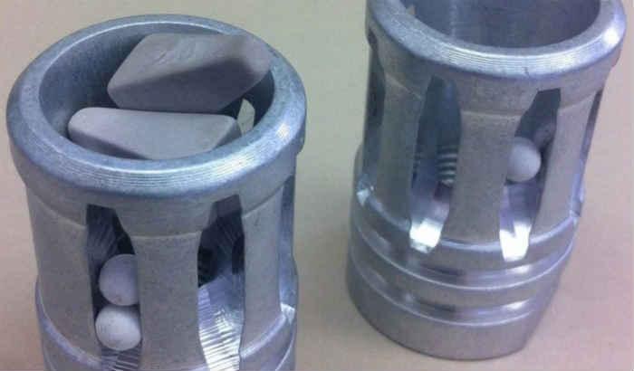prevent parts lodging vibratory finishing