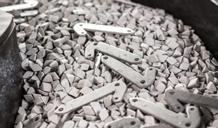 stamping parts deburring with ceramic emdia