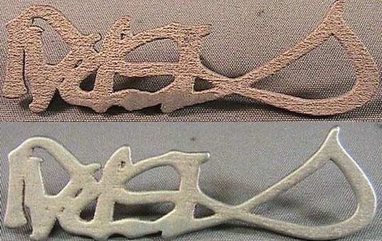 3D Metal Part Finishing jewelry 3d printed