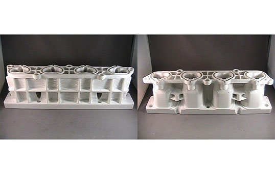 Automotive Intake Manifold- FCA Remove build material