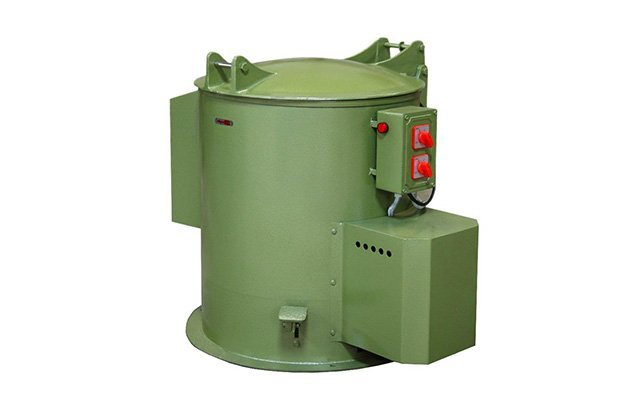 Economic centrifugal finishing spin dryer