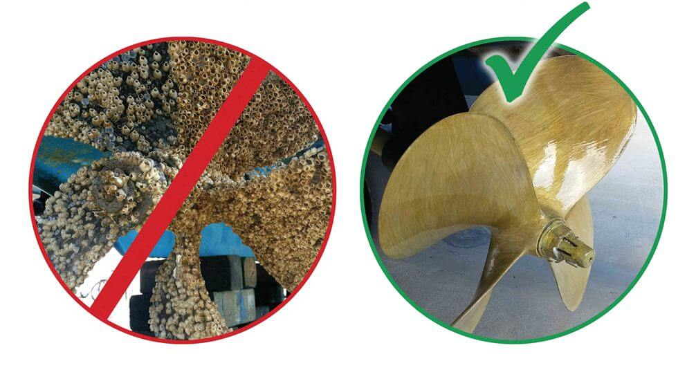 Figure 3. Fouled and Fouling Free Propeller