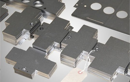 Sheet metal laser cut parts deburring