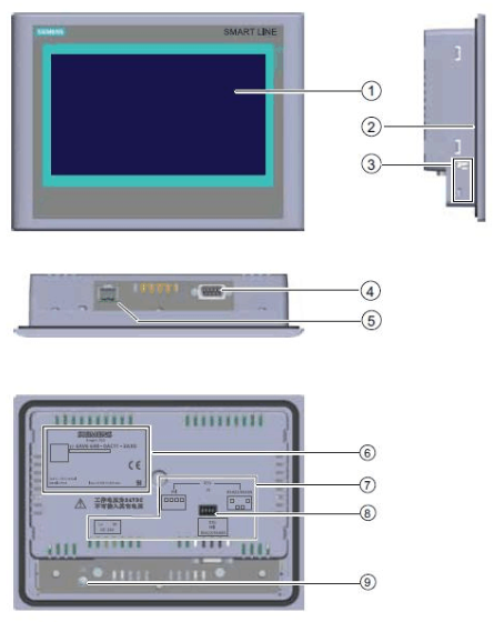 Siemens touch screen image