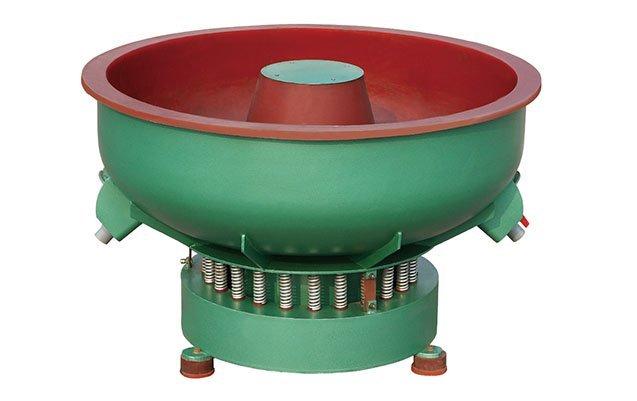 Vibratory deburring polishing machine for metal finishing