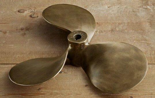 brass bronze boat propeller polishing