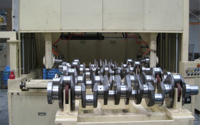 crankshaft polishing before and after