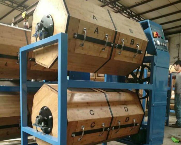double barrel wood barrel rotary polisher