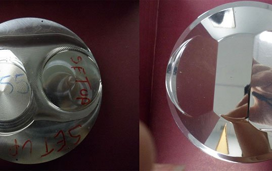 piston header cover polishing