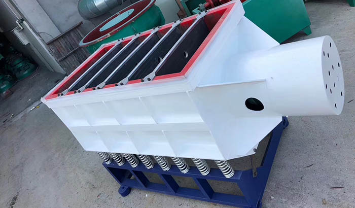 rectangular linear tub vibratory finishing machine