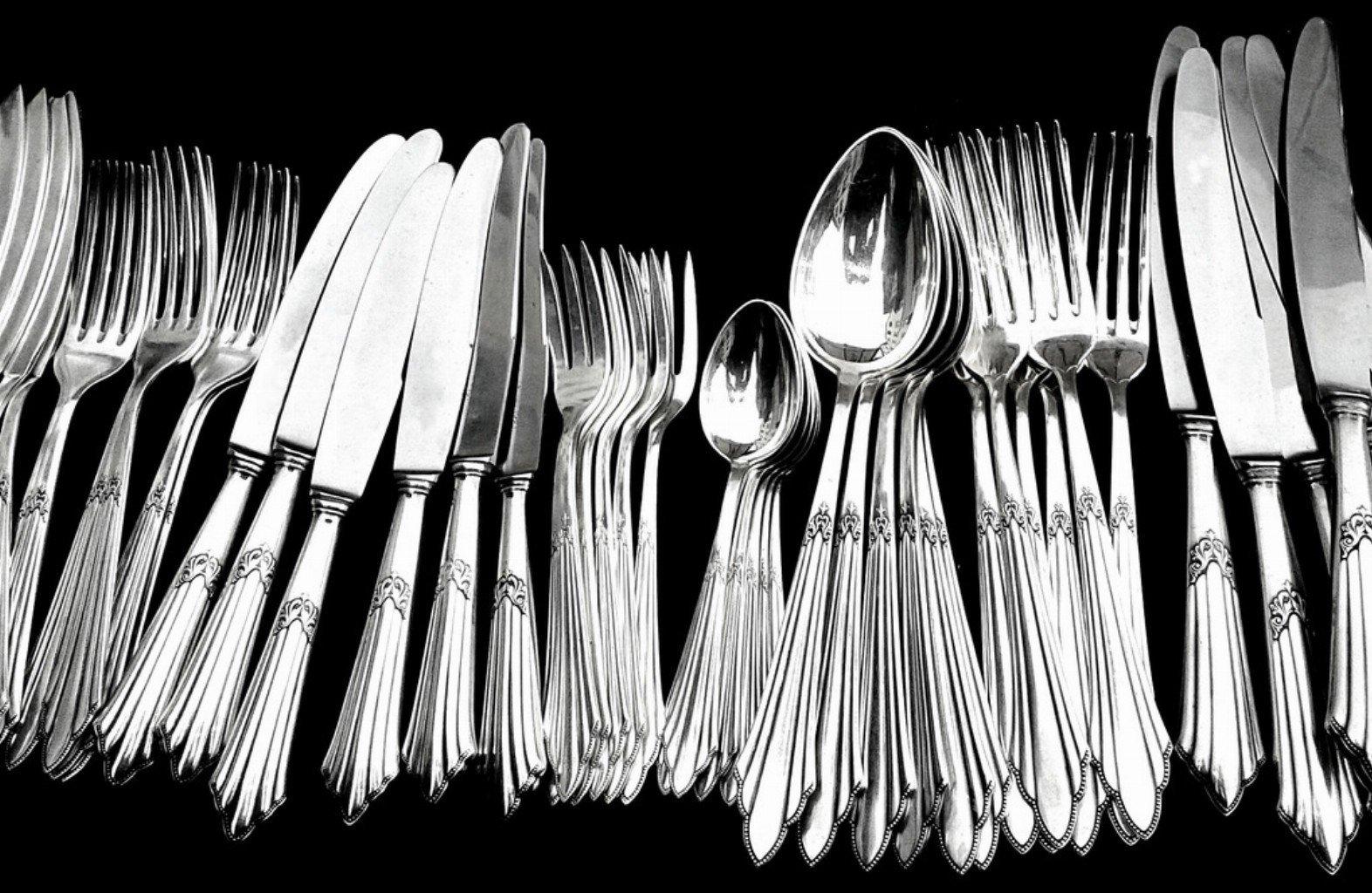silver cutlery polishing