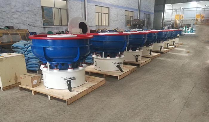 vibratory finishing machine ready for shipment