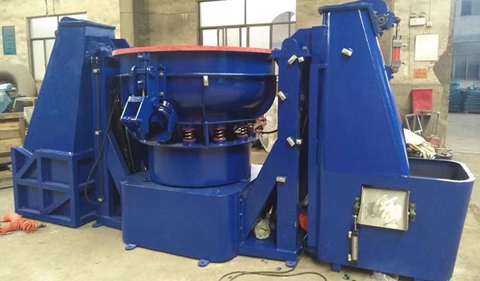 vibratory finishing machine with loading hopper automatic