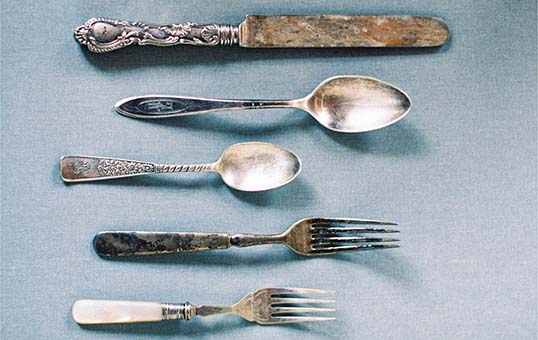 antique silverware burnishing