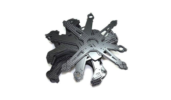 Deburring carbon fibre plastic cut parts