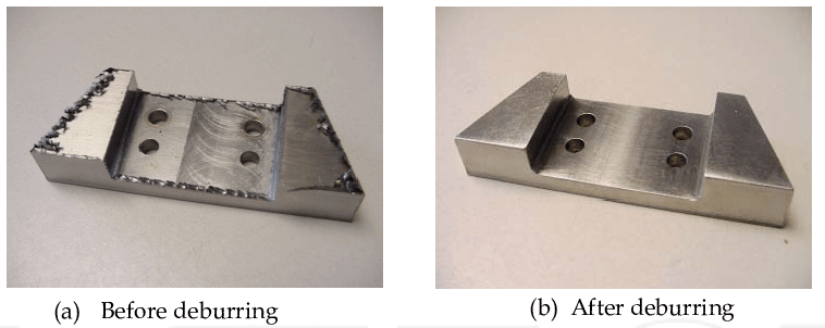 Figure 3 - Deburring metal parts with magnetic polishing machine