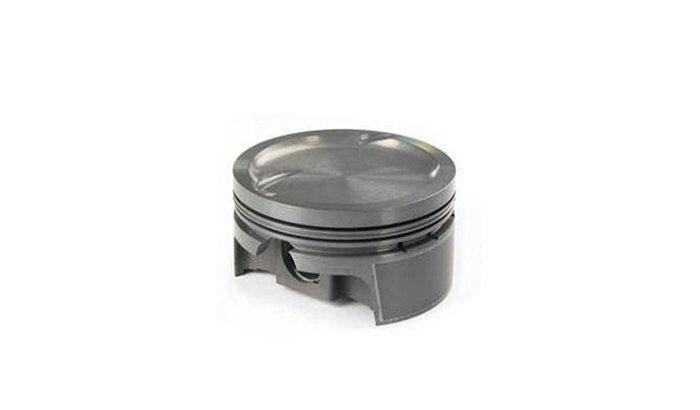 Forged steel piston polishing