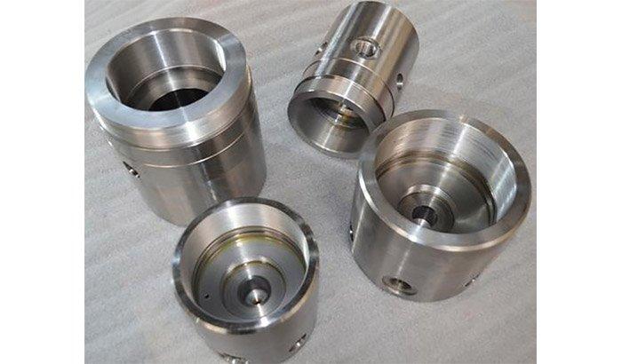 Machined piston polishing