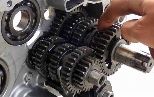 Motorcycle gear polishing