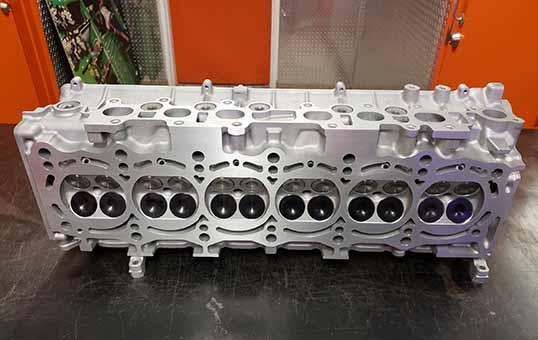 Titanium Turbo Cylinder Heads Polishing