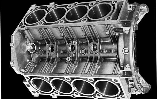 V Engine Block Polishing