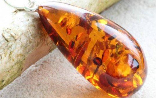 amber pendant polishing