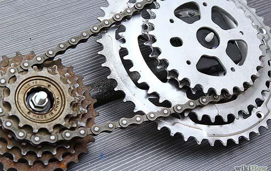 bicycle gear polishing