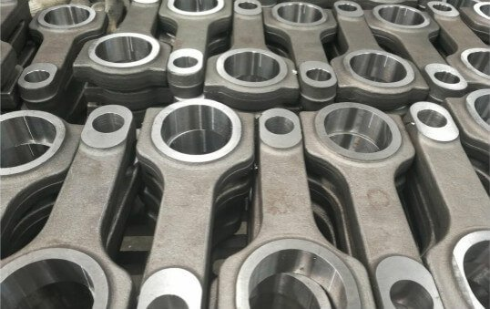 cast steel connecting rods polishing