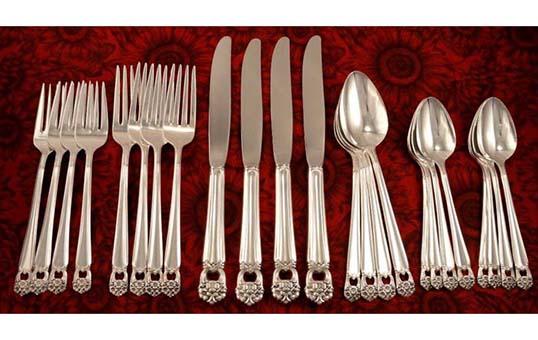 high end luxury silverware burnishing
