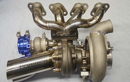 motorbike turbo system polishing