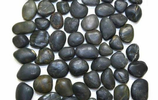 natural river rock cobalt pebble stone polishing